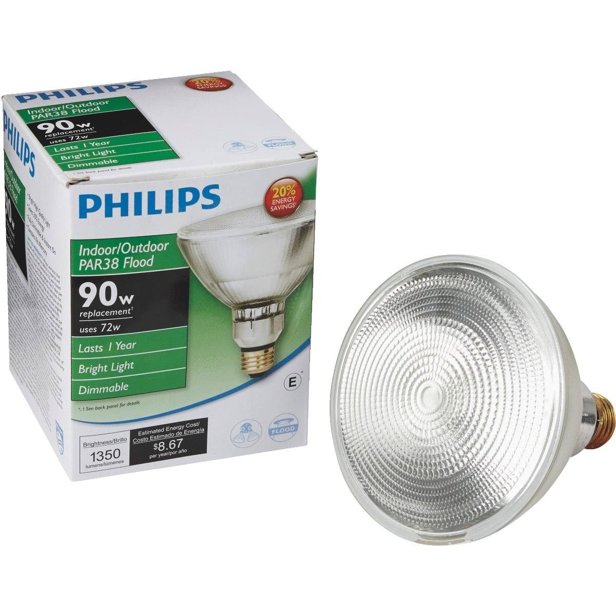Philips 50 Watt Equivalent Halogen Dimmable Flood Light Bulb