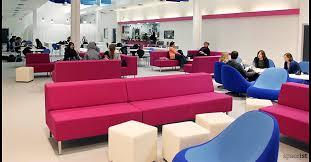 Pink Fabric Modular Office Sofa