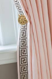 Light Pink Ruffle Blackout Curtains by Curtains White Ruffle Curtain Placed On The Light Brown Wall