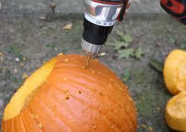 Drilled Pumpkin Designs by Halloween Decoration Spider Web Pumpkin How Tos Diy
