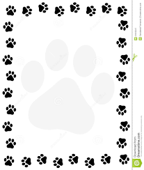 Dog Paw Print Pumpkin Stencils by Dog And Cat Border Clipart China Cps