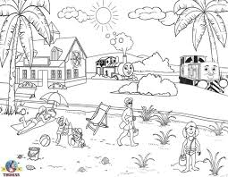 Coloring Page Beach Nature 49
