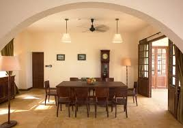 Captivating Dining Room Decor Ideas With Floor Lamp And Solid Wood Furniture
