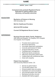 Sample Nursing Resumes Best Resume Examples Student No Experience