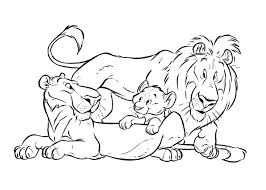 Lion King Family Free Coloring Pages