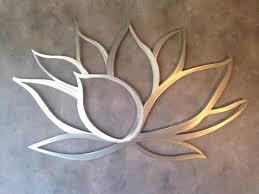 Wall Art Fascinating Decor Paintings Lotus Flower Metal Inspiring Kitchen