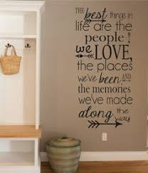 Vinyl Wall Decal The Best Things In Life People Love Memories Quotes Family Decor Living Room