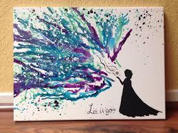 Disneys Frozen Melted Crayon Art