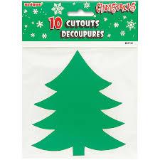 10 Mini Christmas Tree Cutouts 5 In