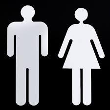 xin homme femme toilette signalisation wc stickers toilettes signe