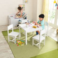 Shop KidKraft Farmhouse Table & 4 Chairs Set - White - Free Shipping ... Kidkraft Farmhouse Table And Chair Set Natural Amazonca Toys Nantucket Kids 5 Piece Writing Reviews Cheap Kid Wood And Find Kidkraft 21451 Wooden 49 Similar Items Little Cooks Work Station Kitchen By Jure Round Ding Vida Co Zanui Photos Black Chairs Gopilatesinfo Storage 4 Hlighter Walmartcom Childrens Sets Webnuggetzcom Four Multicolored