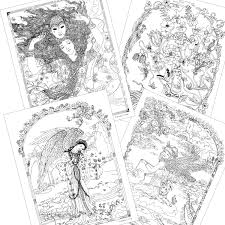 Amazon Myth Magic An Enchanted Fantasy Coloring Book By Kinuko Y Craft 9781631362439 Amber Lotus Publishing Books