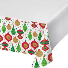 Glittering Ornaments Plastic Tablecloth Target