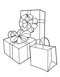 Gift With Kid In It Colouring Pages