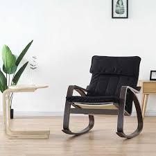 bequeme entspannen holz erwachsene schaukel stuhl sessel schwarz braun finish wohnzimmer möbel moderne liege rocker stuhl holz