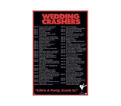 Wedding Crashers Funny College Dorm Wall Poster
