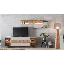 leonardo wohnzimmer set liv 4 tlg massivholzkacheln enthalten mit wandpaneel in mattglas grau