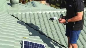 frogpower sl300 solar led light install for concrete roof tile
