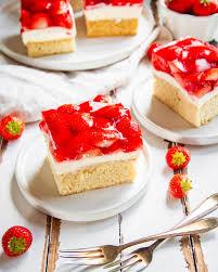 erdbeer schmandkuchen vom blech
