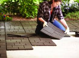 envirotiles recycled rubber tiles and rubber pavers for diy deck