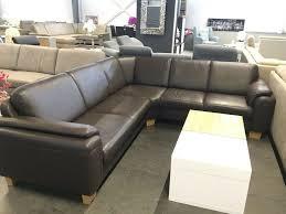 couchgarnitur leder polinova leder braun wohnzimmer sofa