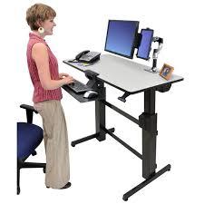 bureau assis debout ergotron workfit d bureau assis debout meuble ordinateur