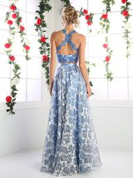 long two piece dress with floral print skirt by cinderella divine