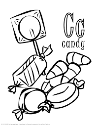 Alphabet Candy Coloring Pages