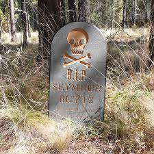 Creepy Halloween Tombstone Sayings by Halloween Tombstone Seymour Lawn Yard Ornament Sign
