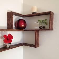 Wall Decor Shelves Ideas Rustic Pallet Decorative Shelf Red Ball