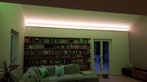 indirekte led beleuchtung im wohnzimmer len und