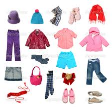 Kids Fall Clothes Clipart