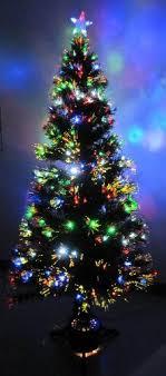 8 Foot Green Artificial Fiber Optic Christmas Tree W 300 MULTICOLOR LED Lights