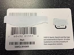 Sprint SIM card UICC SIMGLW406R iPhone 5 ONLY