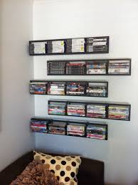 2 black lerberg cd dvd rack shelf wall mount metal steel material