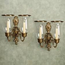 nerissa antique brass wall sconce pair