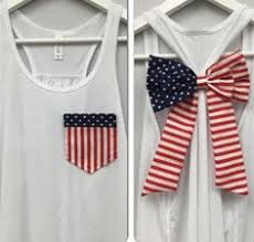 American Flag Pocket And Bow Tank Top Star Of July