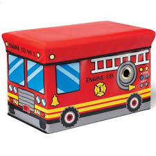 Kidoozie Fire Engine Truck Toy Box 18.5