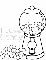 Chocolate Candy Coloring Pages Printable