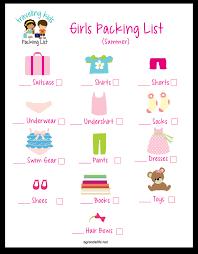 Agrandelife Traveling Kids Packing List Girl Shadow