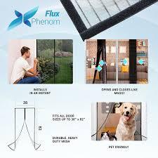 Doggie Door Insert For Patio Door by Flux Phenom Reinforced Magnetic Screen Door Fits Doors Up To 38 X