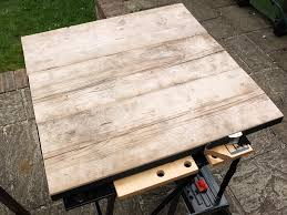 making a scaffold plank table giles paterson