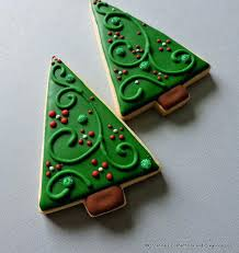 Christmas Cookies Tree Modern Style Large Decorated Sugar By Cookie Decorations Ideas