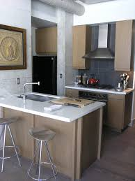 Kitchen Island With Sink Contemporary Gray Tile