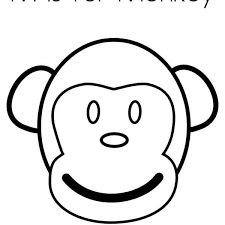 Monkey Face Coloring Page Color Model Pages