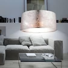 design hänge leuchte wohnzimmer stoff pendel le rund