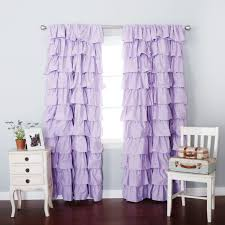 astounding purple ruffle curtains 68 in extra long shower curtain