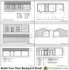 Small Generator Shed Plans by 3 Stall Horse Barn Plans With Lean To And Center Tack Room 3rd