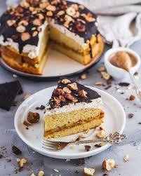 gesunder haselnuss karamellcreme kuchen low