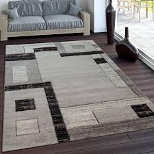 kurzflor teppich designer wohnzimmer grau modern teppich
